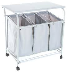 Laundry Sorter With Folding Table Laundry Sorter Laundry Her With Hanging Rod Laundry Sorter