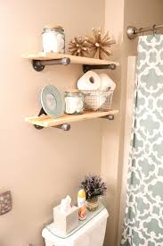 Decorate Bathroom Shelves Bathroom Bathroom Diy Decor Cozy Diy Rustic Industrial Bathroom