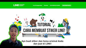 tutorial cara membuat line sticker tutorial cara membuat stiker line line creator youtube