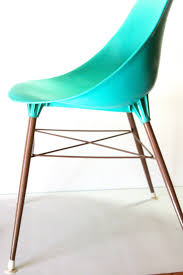 Molded Plastic Armchair Vintage Turquoise Teal Aqua Molded Plastic By Calmcoolcollectedvin