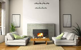 modern living room with fireplace single drawer gray stained wall