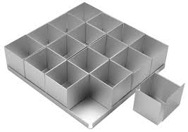 square cake alan silverwood 16 square multi cake pan set 2