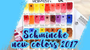 new schmincke watercolors 2017 youtube