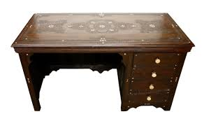 wood inlay moroccan carved wooden inlay desk from badia design inc