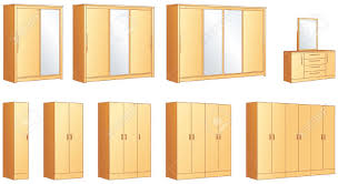 bedroom furniture modular wardrobes and dressing commode with bedroom furniture modular wardrobes and dressing commode with mirror illustration objects stock vector 19695284