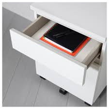 Malm Computer Desk Malm Drawer Unit On Casters White Ikea
