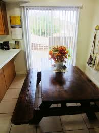 picnic table dining room picnic table as a kitchen dining room table home pinterest