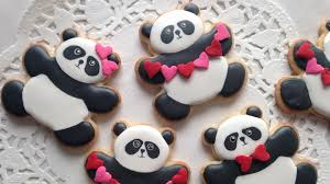 valentines day cookies how to decorate panda cookies for s day
