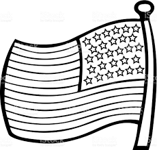 american flag clipart outline pencil and in color american flag