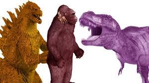 dinosaur godzilla king kong elephant cartoon king kong