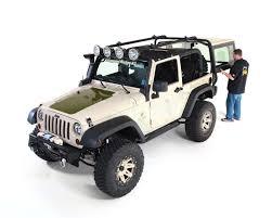 pink jeep liberty rugged ridge sherpa roof rack jk 2 doors 11703 01