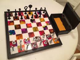 coolest chess sets handmade chess set tiles are 2x2 marble white from home depot