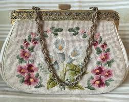 needlepoint purse etsy