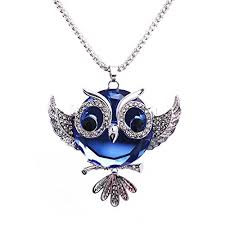 crystal owl pendant necklace images Luvalti owl pendant necklace for women blue crystal jpg