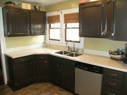 Before And After Kitchen Cabinet Painting Painting Old Melamine Kitchen Cabinets Chalk Paint Over Melamine