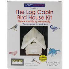 House Kit by Amazon Com Pinepro Unfinished Wood Kit Log Cabin Bird House