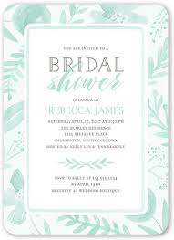 wedding shower invitations painted botanicals 5x7 personalized bridal shower invitations
