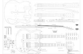 gibson double neck esd 1275 guitar templates electric herald