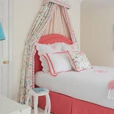 Pink Canopy Bed Scalloped Canopy Bed Valance Design Ideas