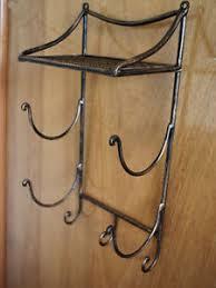 Wrought Iron Bathroom Shelves Wrought Iron Style Bathroom Shelf Towel Holder Ebay