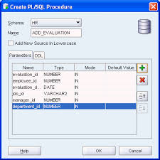 tutorial oracle stored procedure developing and using stored procedures
