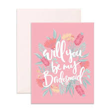 will you be my bridesmaid fox and fallow will you be my bridesmaid card typo market