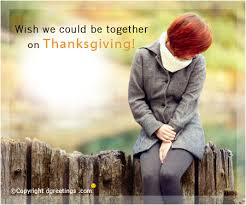 wish we could be together missing you thanksgiving card