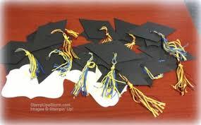 graduation cap centerpieces just julie b s stin space a graduation cap from scraps