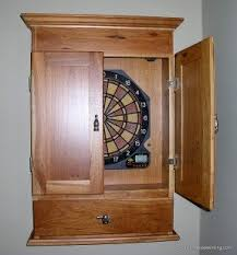 Dart Board Cabinet Plans Personalized Dart Board Cabinets Foter