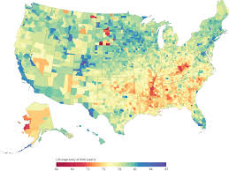 Zip Code Heat Map by Map Of Life Expectancy In The Us Shows Disparities Business Insider