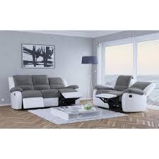 canapé relax 2 places tissu usinestreet canapé relaxation 2 places microfibre grise simili