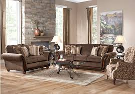 Rooms To Go Sleeper Loveseat Shop For A Ansel Park Brown 5pc Classic Living Room At Rooms To Go
