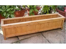 handmade wooden garden planter trough window box choose length