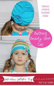 peek boo pattern shop bathing beauty swim cap downloadable pattern