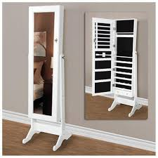 wall mirror jewelry cabinet best choice products mirrored jewelry cabinet armoire w stand rings
