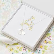 charm necklace letter images Libby floral silver letter charm necklace by bloom boutique jpg