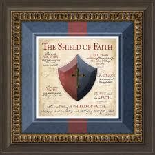 shield of faith framed art lordsart