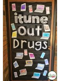 Red Ribbon Door Decorating Ideas Itune Out Drugs Door Decoration Education To The Core