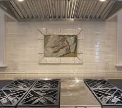 kitchen mural ideas fish tile mural in traditional kitchen backsplash traditional
