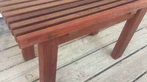 beautiful handmade wood shower bench youtube