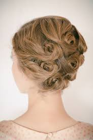 pin curl the hair arranged pin curl updo the boyer