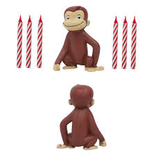curious george cake decorating kit candles