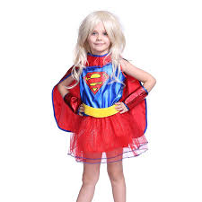 Halloween Costumes Supergirl Déguisement Enfant Costume Fille Tenue Halloween Carnaval Super