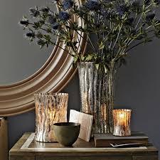 Log Vases Mercury Glass Logs West Elm