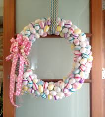 how to make an easter egg wreath diy easter egg wreath freckles