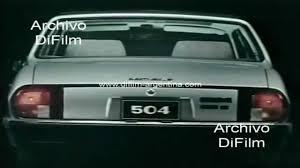 peugeot 504 interior publicidad automovil peugeot 504 grii 1983 youtube