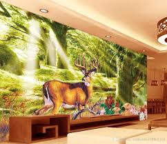 3d Murals by Home Decoration Forest Tree Dream Forest Background Wall Landscape