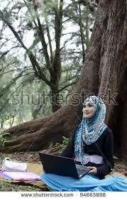 beautiful young muslimah woman stylish head stock photo 94166206