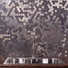 Aspect HoneycombBrushed StainlessMatted Backsplash - Aspect backsplash tiles