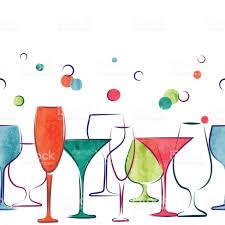 cocktail party invitation or wine menu design stock vector art